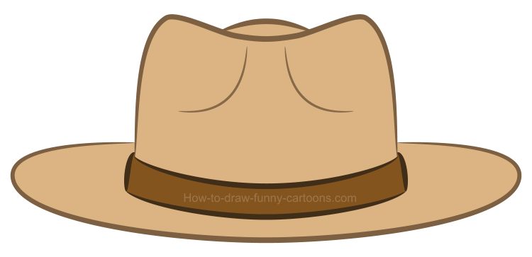 How to draw a clipart hat