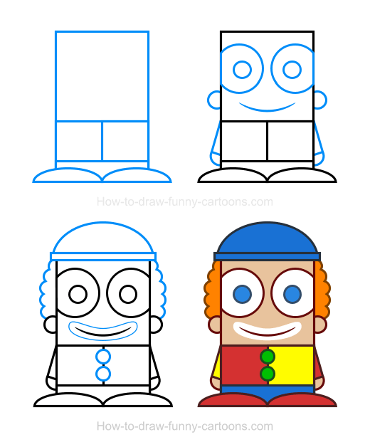 How To Draw A Clown Clipart