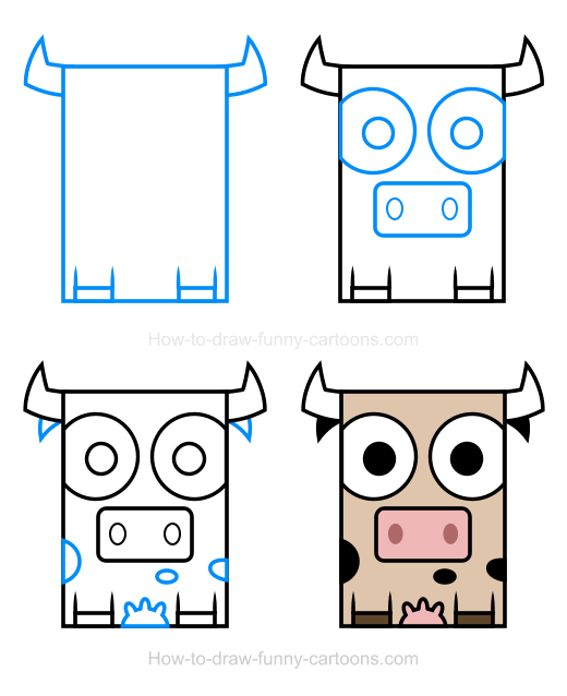 How to Draw a Cow Clipart