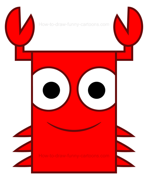How to Draw a Crab Clipart