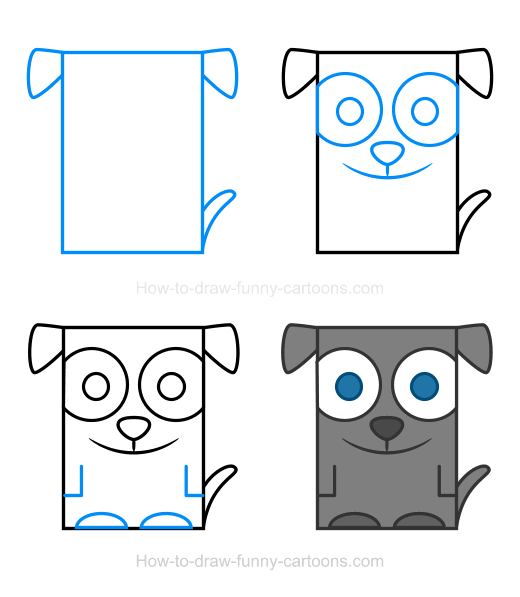 How to Draw a Dog Clipart