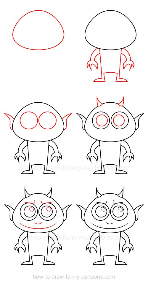 How to draw a demon