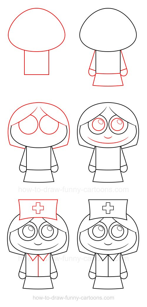 How to Draw A Nurse
