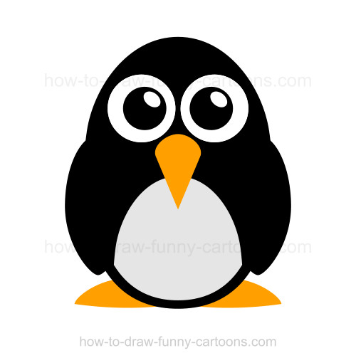 how to draw a penguin rh how to draw funny cartoons com penguin cartoon pictures free cartoon penguin pictures to print