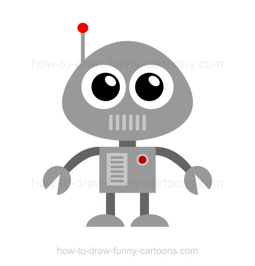 How to draw cartoon characters: Robot