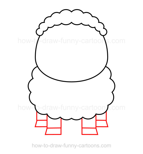 how to draw shaun the sheep step by step