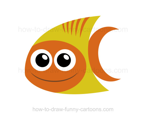 How to draw a tropical fish