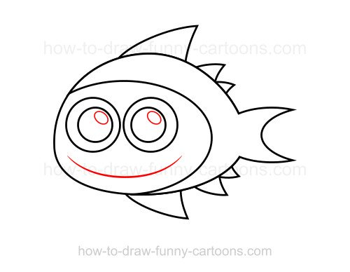 How to draw a tuna
