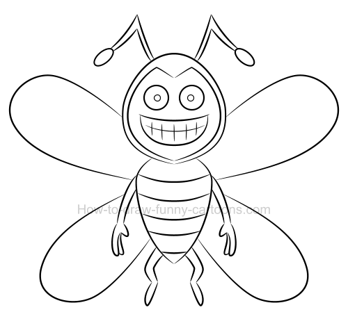 Drawing a bee