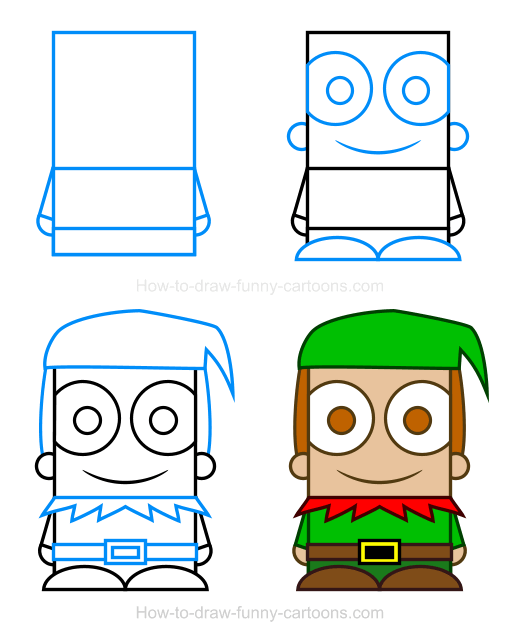 How To Draw An Elf Clipart