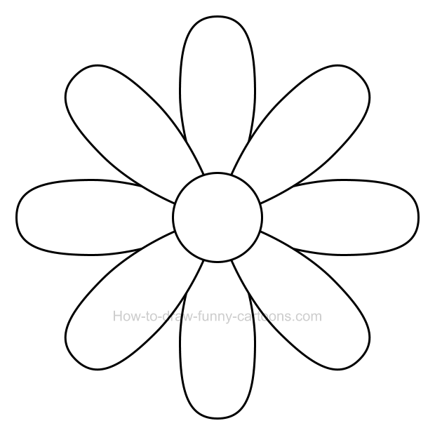 How to draw a flower clip art