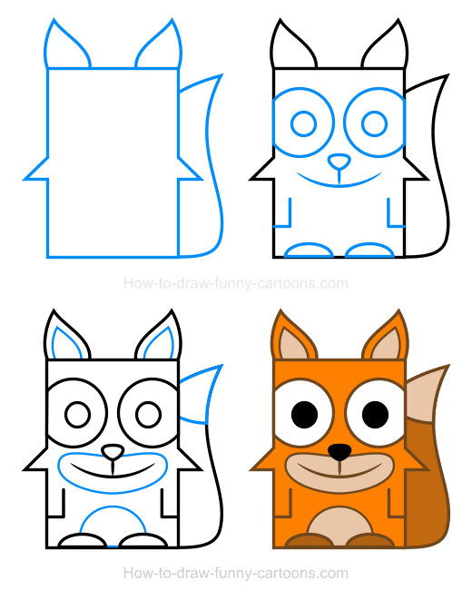 How to Draw a Fox Clipart