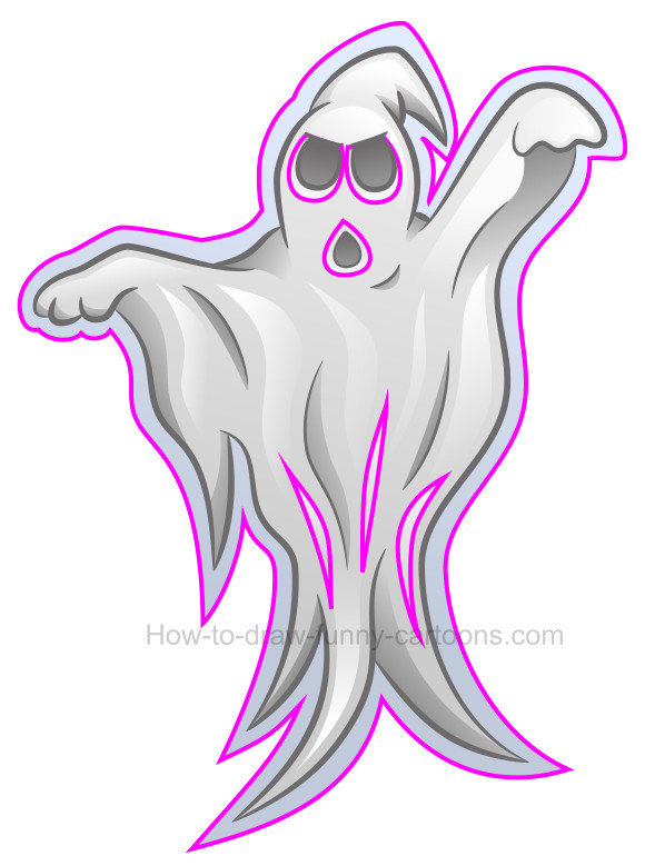 How to draw a ghost clip art