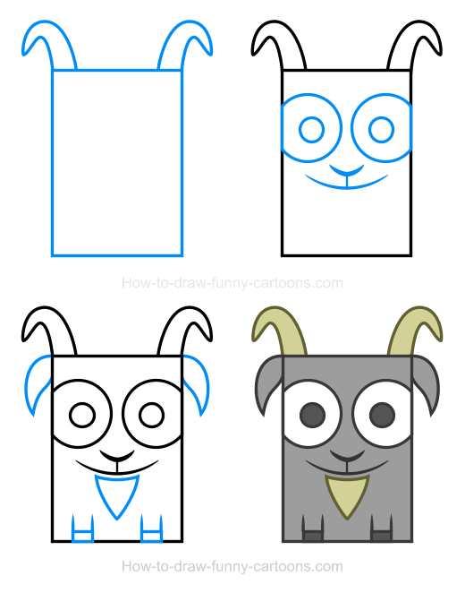 How to Draw a Goat Clipart