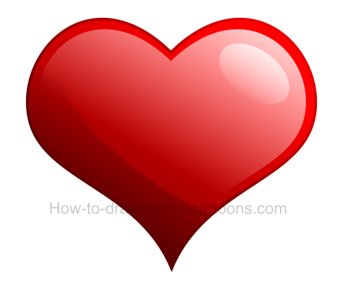 How to draw a heart clip art