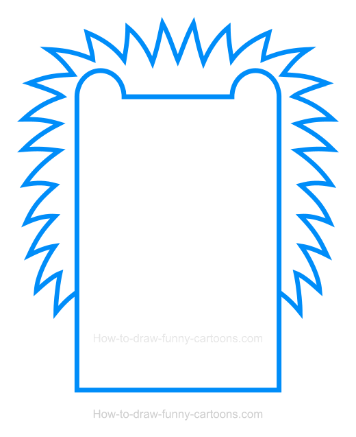 How to Draw a Hedgehog Clipart
