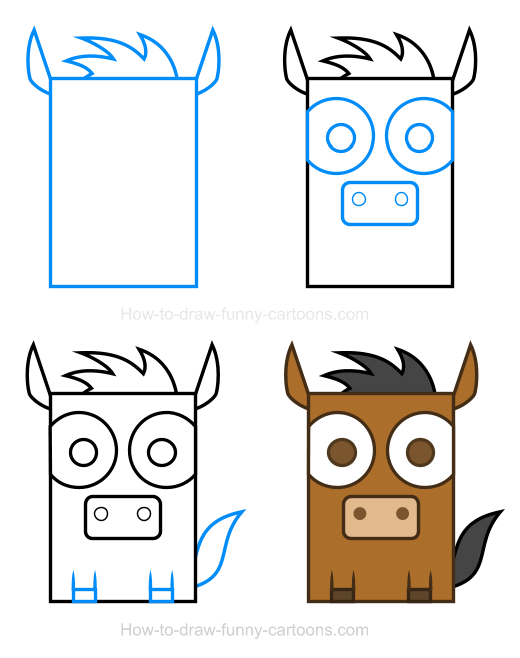 How to Draw a Horse Clipart