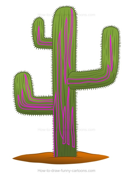 How to draw a cactus