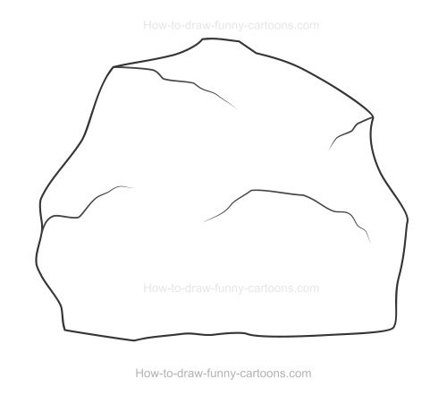 How to Draw A Rock