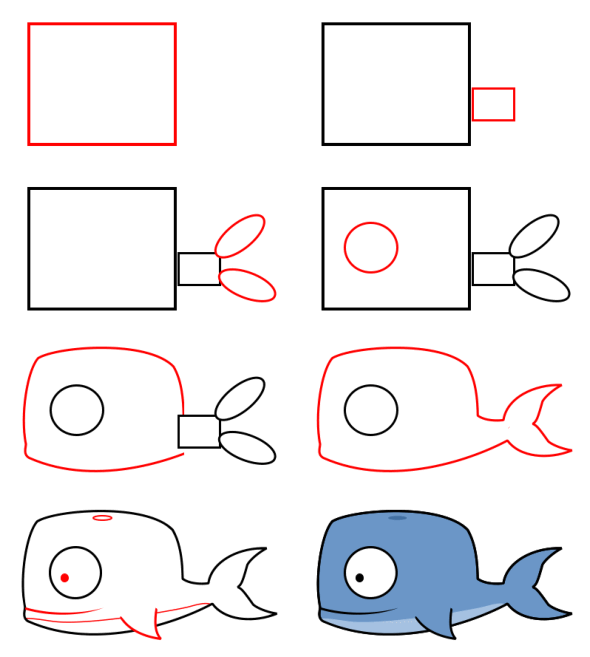 How to draw animals : whale