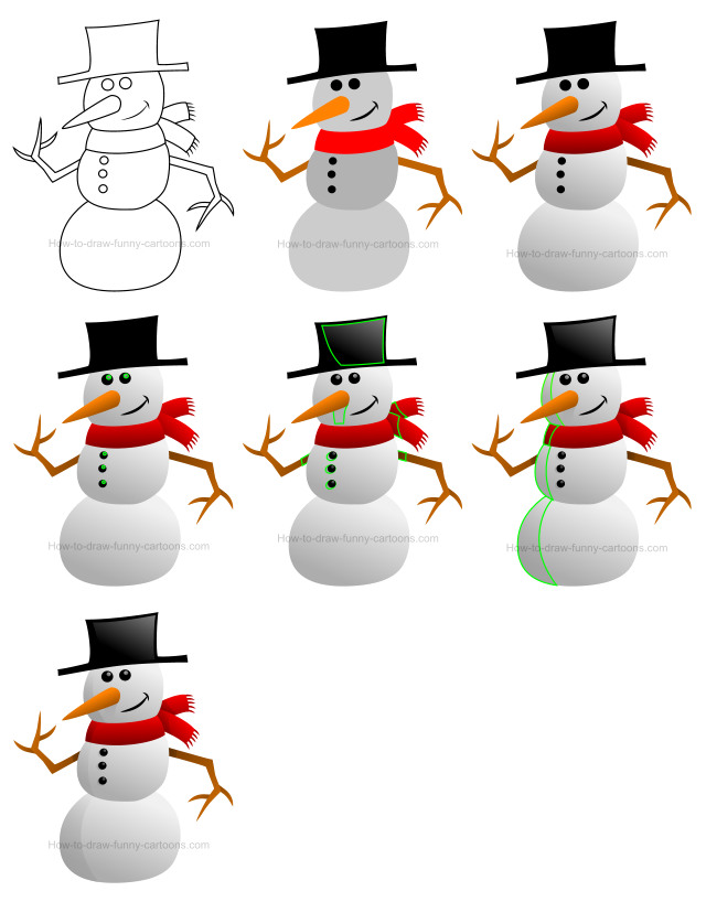 How to draw people - Snowman