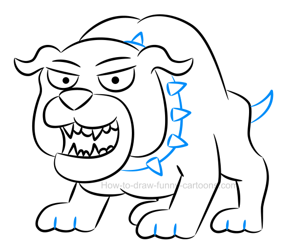 How to create an illustration of a bulldog