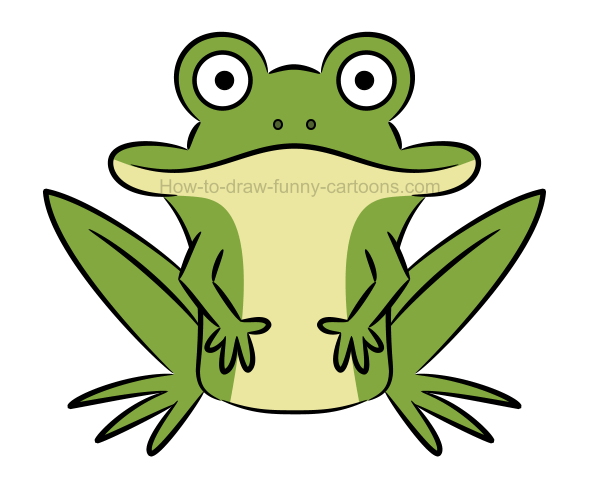 How to create an illustration of a frog