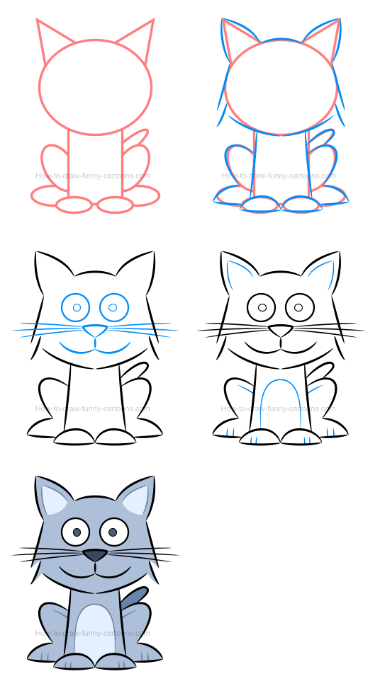 How to draw an illustration of a kitten