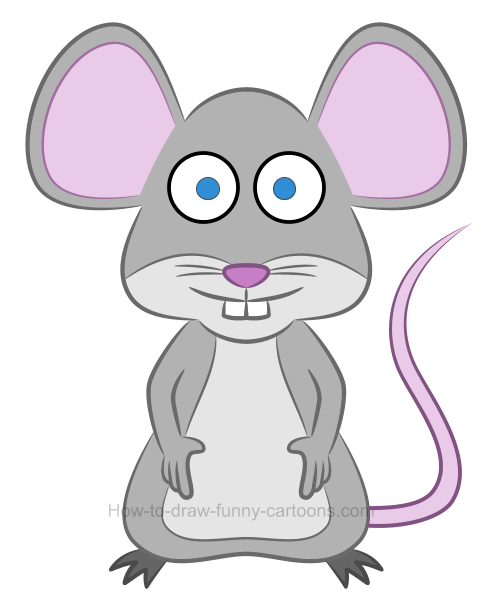 How to draw an illustration of a mouse