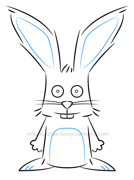 How to draw an illustration of a rabbit