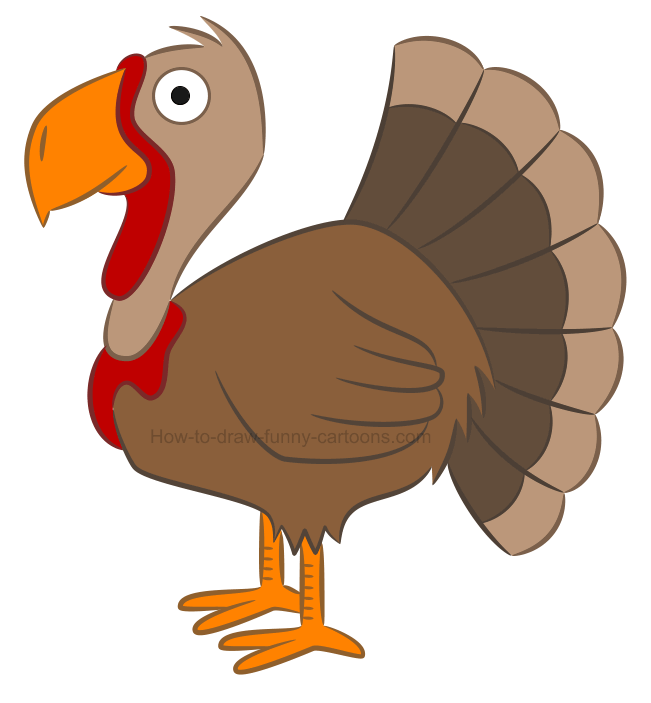 How to draw an illustration of a turkey