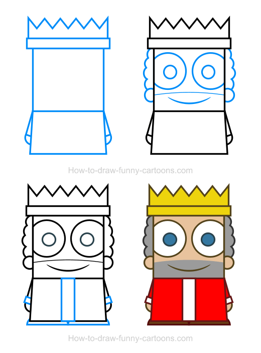 How To Draw A King Clipart