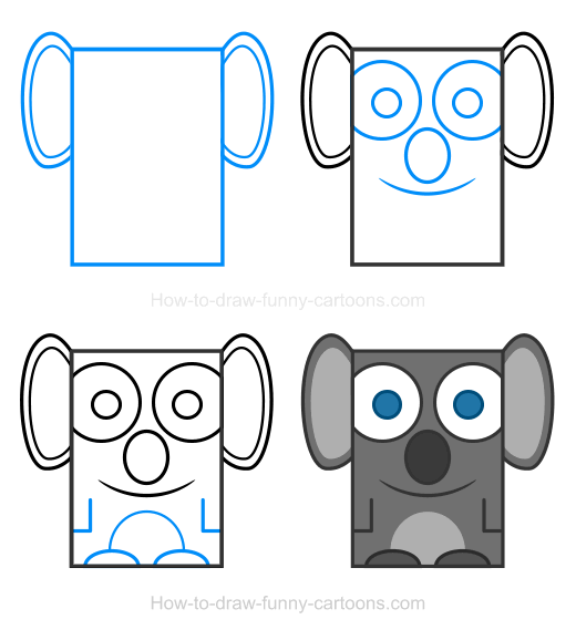 How to Draw a Koala Clipart