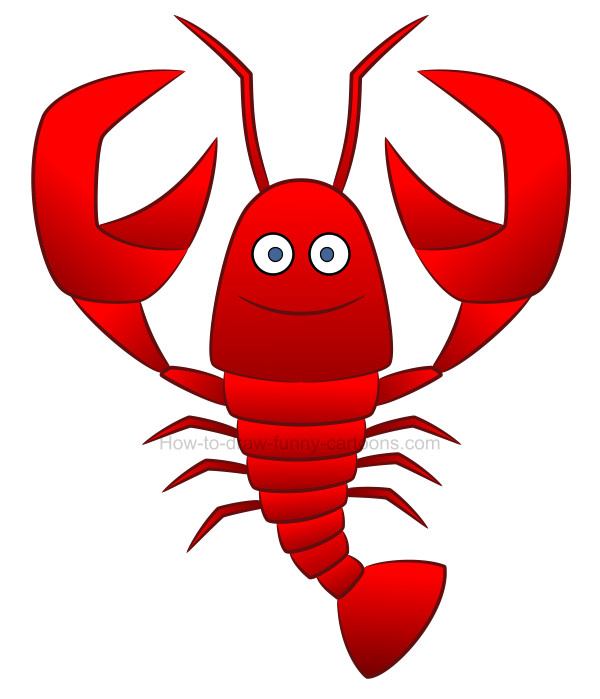 How to create a lobster drawing