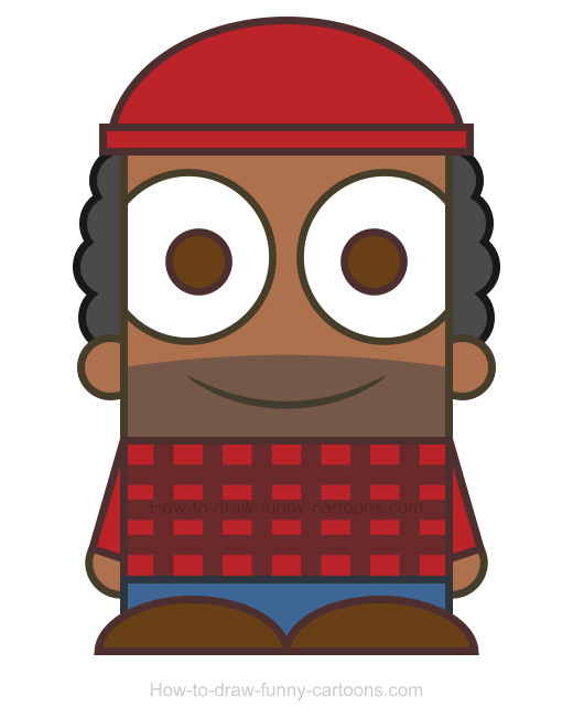 How To Draw A Lumberjack Clipart