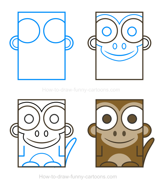 How to Draw a Monkey Clipart