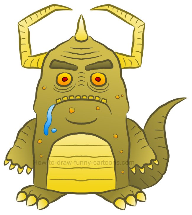 How to draw a monster clip art