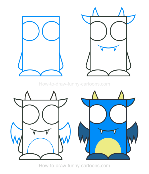 How To Draw A Monster Clipart