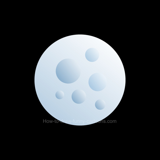 How to draw a moon clip art