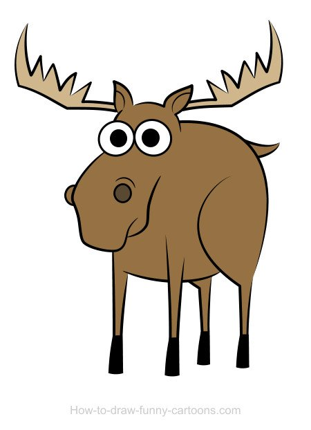 moose drawings  sketching   vector
