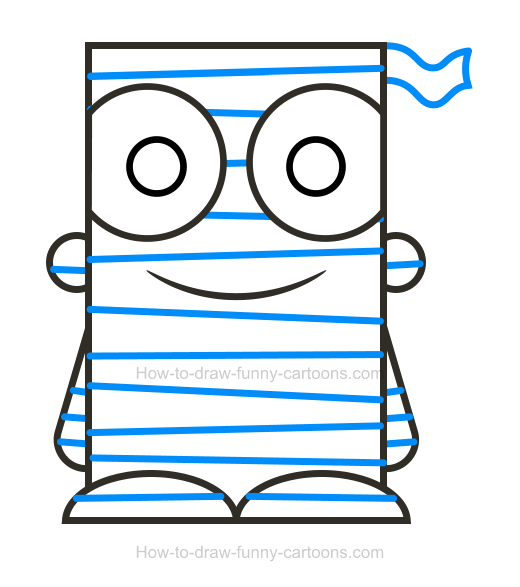 How To Draw A Mummy Clipart