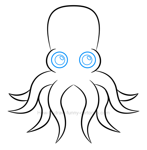 How to draw an octopus clip art