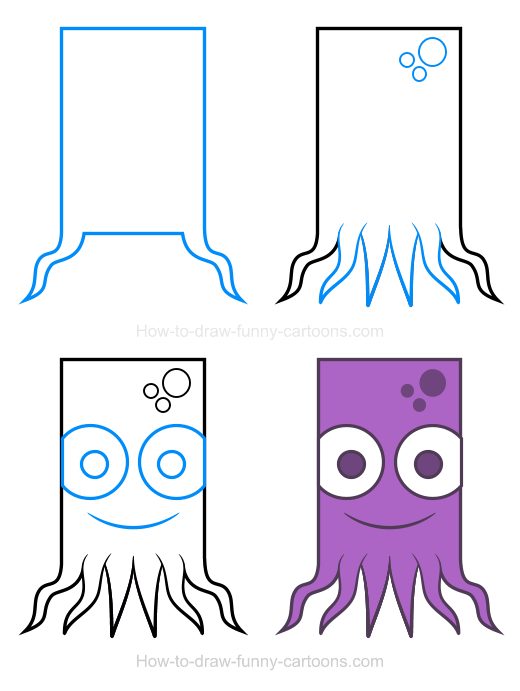 How to Draw an Octopus Clipart