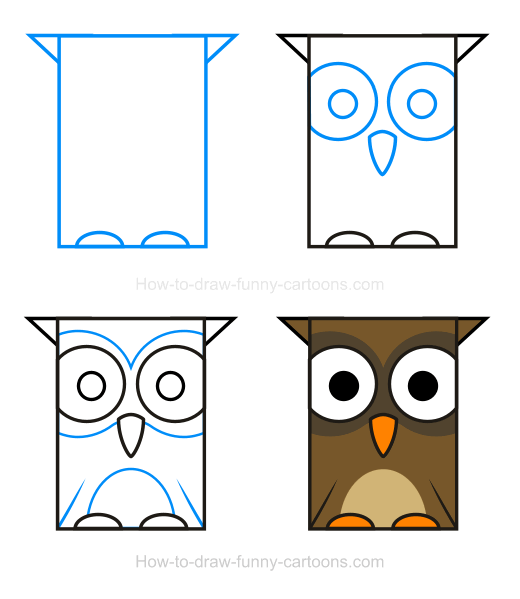 How to Draw an Owl Clipart