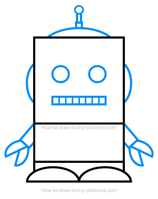 How To Draw A Robot Clipart