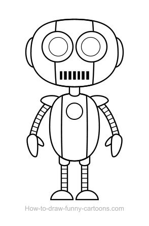 robot drawing