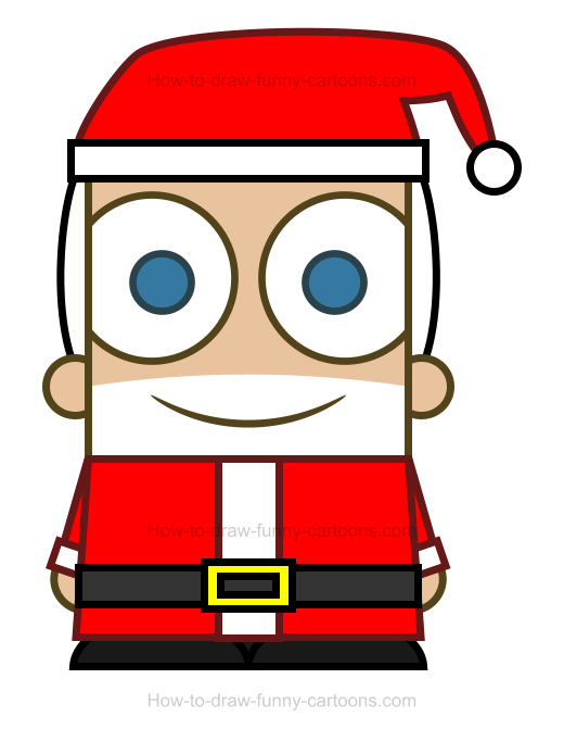 How To Draw A Santa Clipart