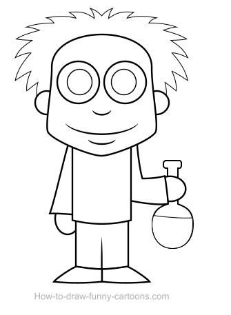 scientist drawing