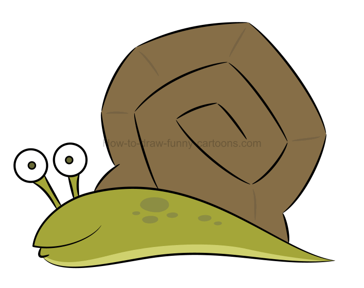 How to create a snail drawing