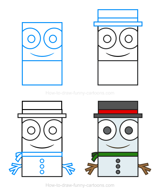 How To Draw A Snowman Clipart